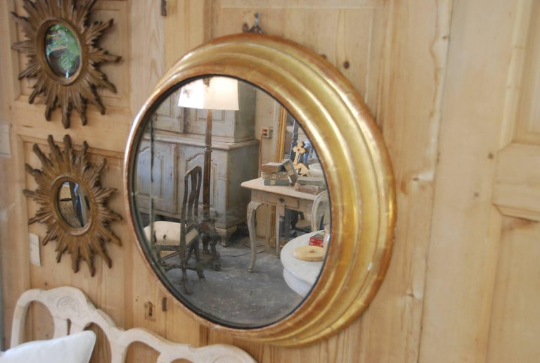 19th Century French Round Gilded Mirror 2