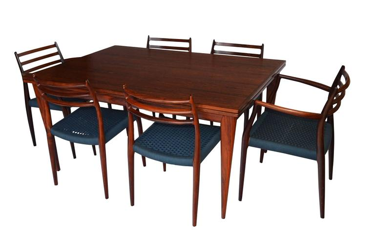 Niels Otto Moller Rosewood Dining Table Model No12 at  : setl from www.1stdibs.com size 768 x 482 jpeg 31kB