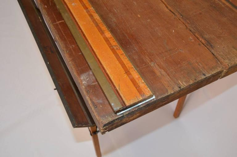 Industrial Wood And Steel Wallpaper Table At 1stdibs