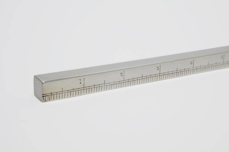 British Sterling Silver Draftsman's Ruler For Sale