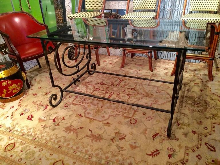 One of a Kind Vintage New Orleans Iron Dining Table For  : IMG1917l from www.1stdibs.com size 768 x 576 jpeg 92kB