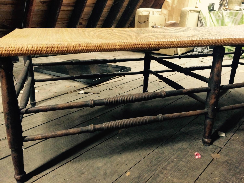 Antique rattan chaise longue for sale at 1stdibs for Chaise longue rattan sintetico