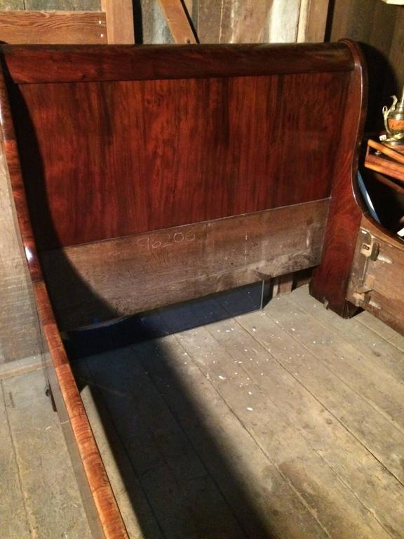 Gorgeous Antique Empire Mahogany Sleigh Bed At 1stdibs