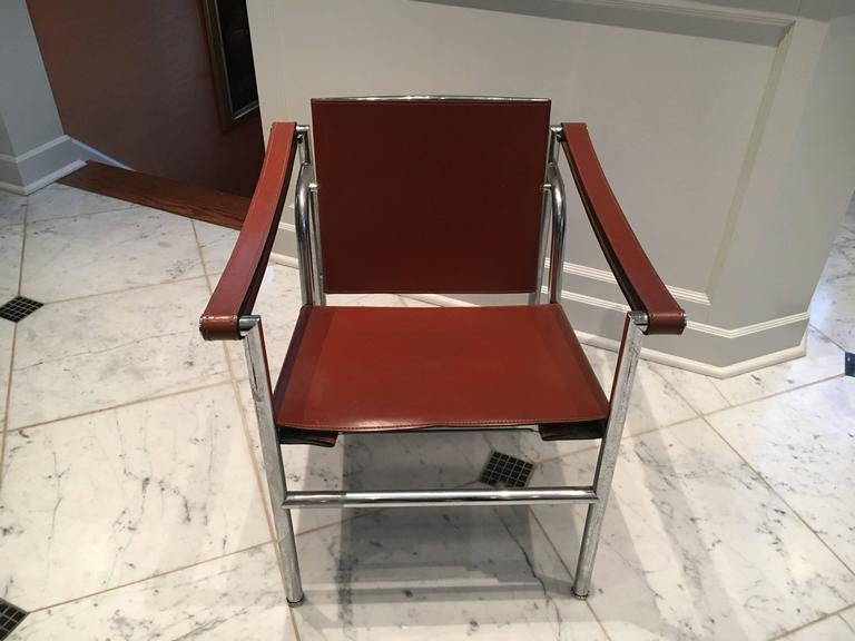 Handsome le corbusier leather lc1 sling chair at 1stdibs - Chaise lc1 le corbusier ...