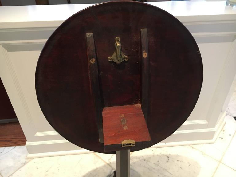 antique mahogany flip top round side table for sale at 1stdibs. Black Bedroom Furniture Sets. Home Design Ideas
