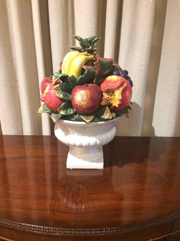 Mouthwatering Italian Ceramic Fruit Bowl Centerpiece At