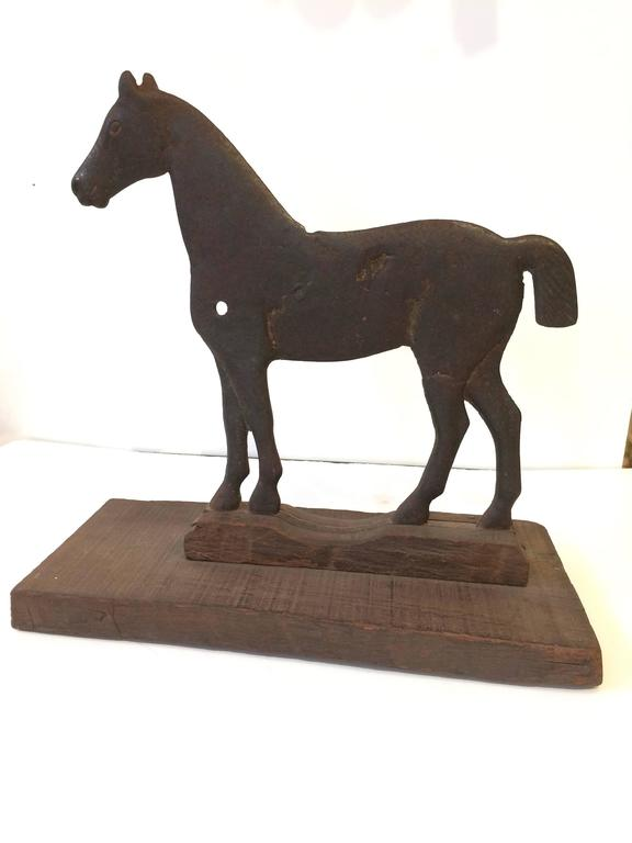 Fabulous Cast Iron Windmill Weight Horse Sculpture At 1stdibs