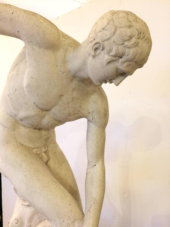 American Classical Sculpture of Greek Discus Thrower For Sale