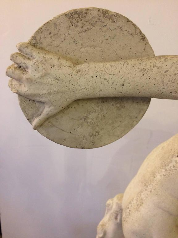 Neoclassical Classical Sculpture of Greek Discus Thrower For Sale