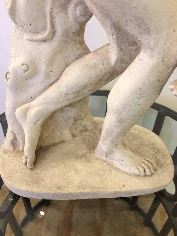 Mid-20th Century Classical Sculpture of Greek Discus Thrower For Sale