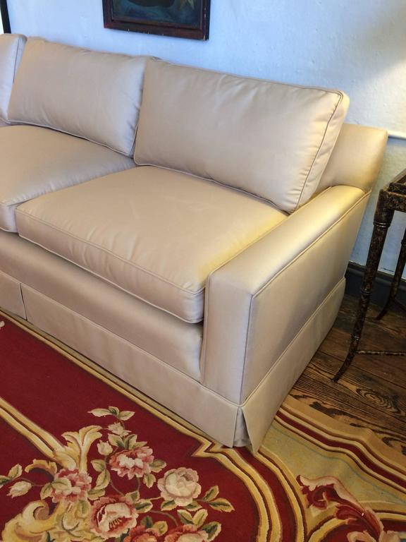 Sophisticated custom very long khaki sofa for sale at 1stdibs for Long couches for sale