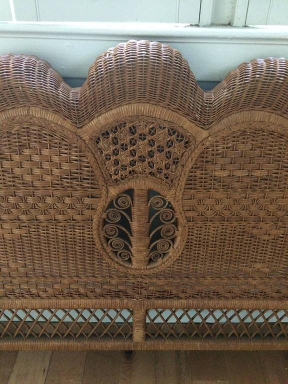 King Sized Ralph Lauren Wicker Bed At 1stdibs