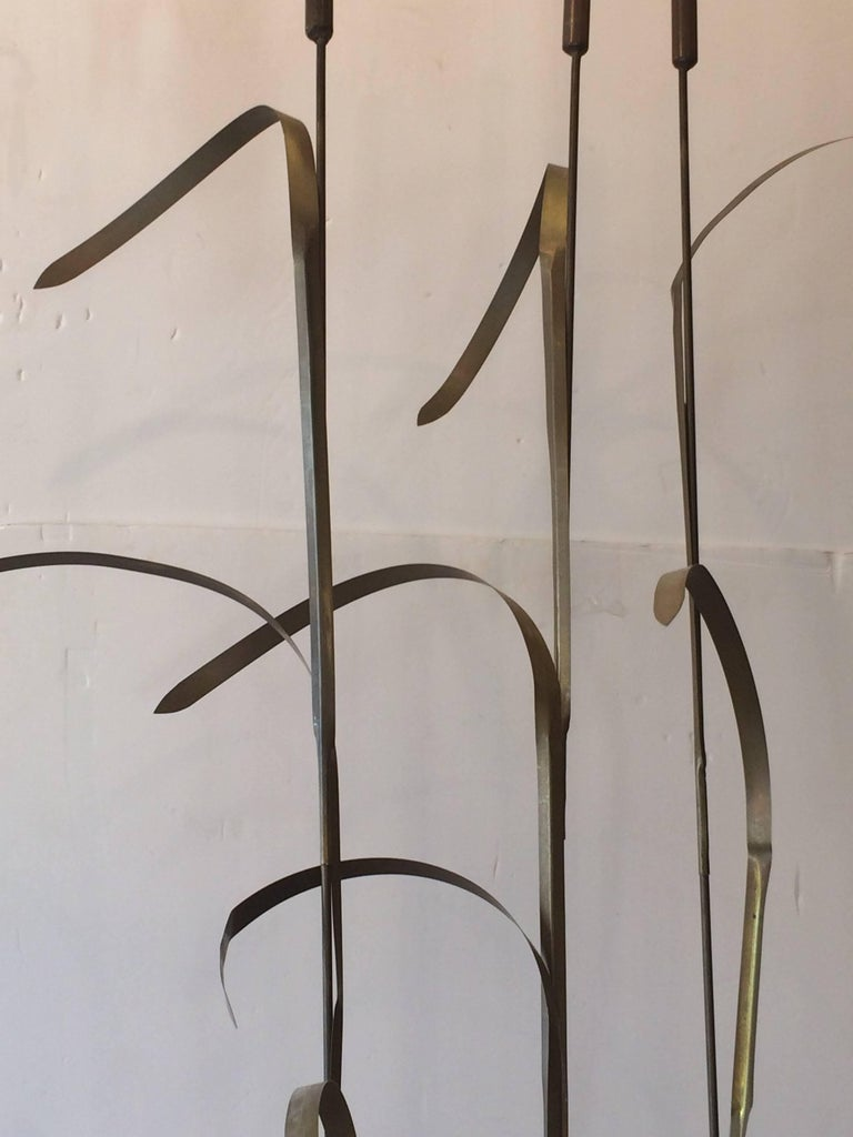 Contemporary Superlative Very Tall Metal Wheat Motif Sculpture For Sale