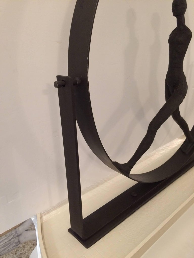 Stunning Original Giacometti Style Forged Iron Figural Sculpture For Sale 1