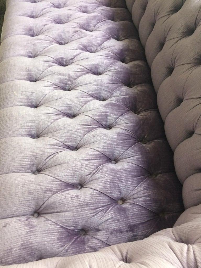 Dreamy Soft Lavender Tufted Velvet Chesterfield Sofa For Sale 1