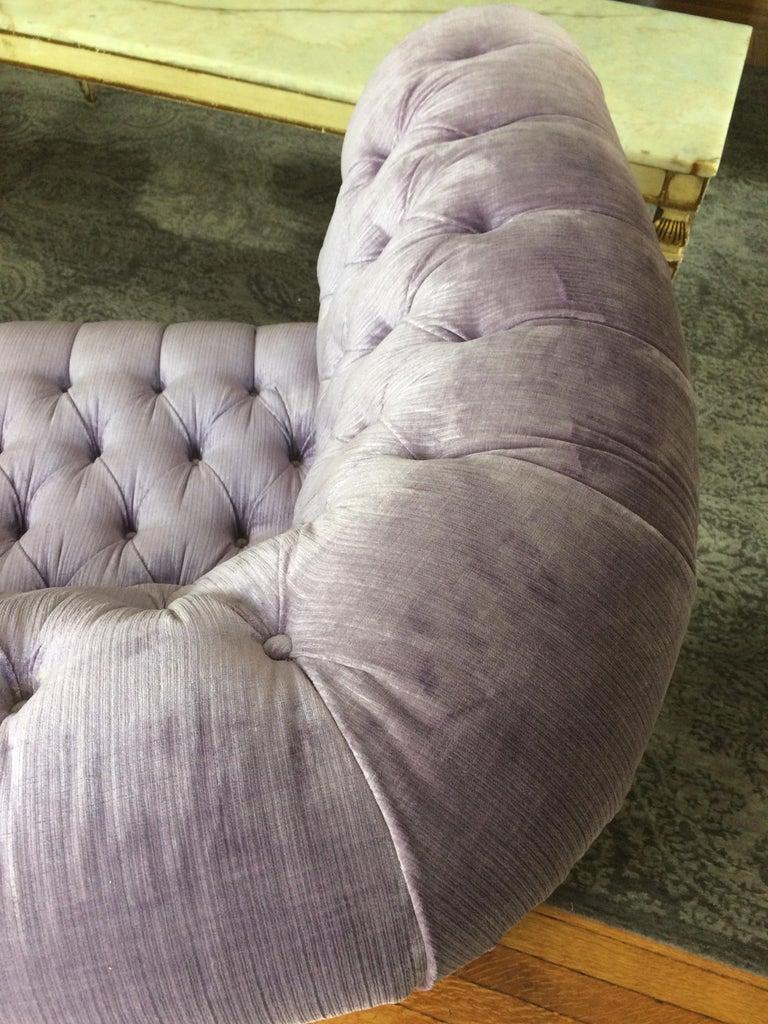 Dreamy Soft Lavender Tufted Velvet Chesterfield Sofa For Sale 6