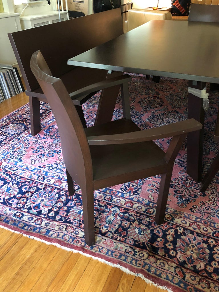 Sophisticated Bulthaup Dining Table with Two Benches and Two Armchairs For Sale 2