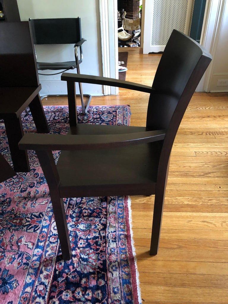 Sophisticated Bulthaup Dining Table with Two Benches and Two Armchairs For Sale 6