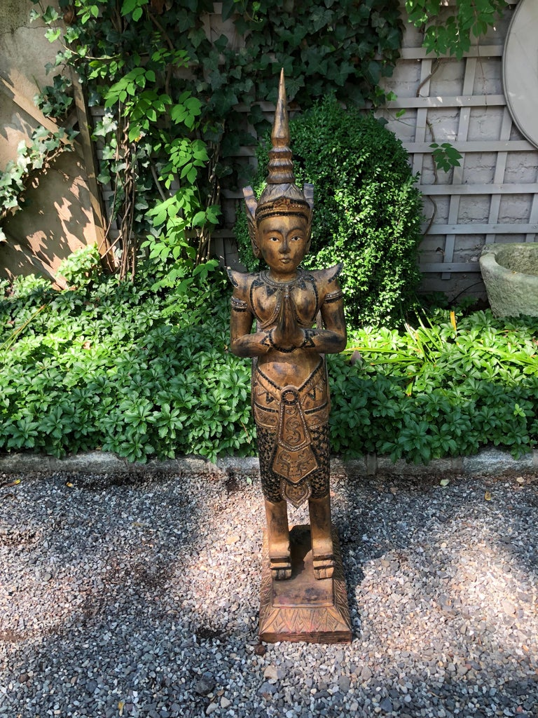 Exotic and Large Thai Deity Sculpture For Sale 2