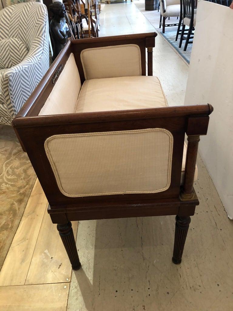 French Elegant Regency Style Vintage Settee For Sale