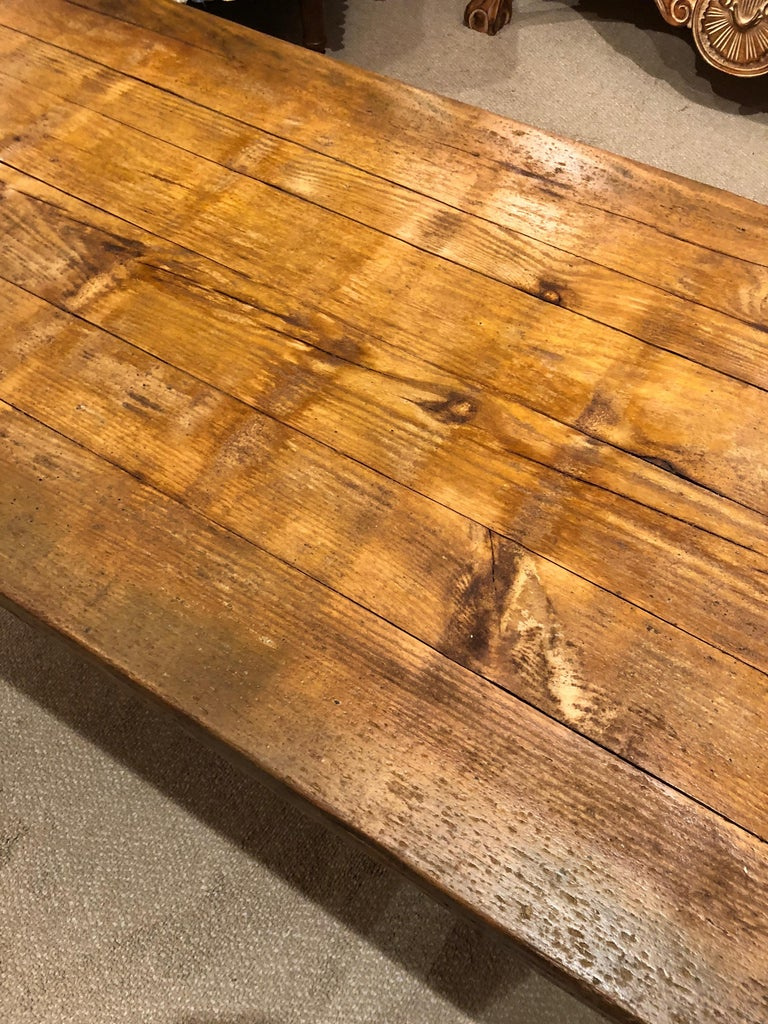Late 20th Century Rustic Industrial Belgian Pallet Coffee Table For Sale
