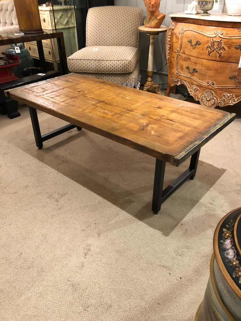 Rustic Industrial Belgian Pallet Coffee Table For Sale 1