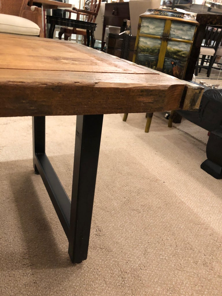 Rustic Industrial Belgian Pallet Coffee Table For Sale 3