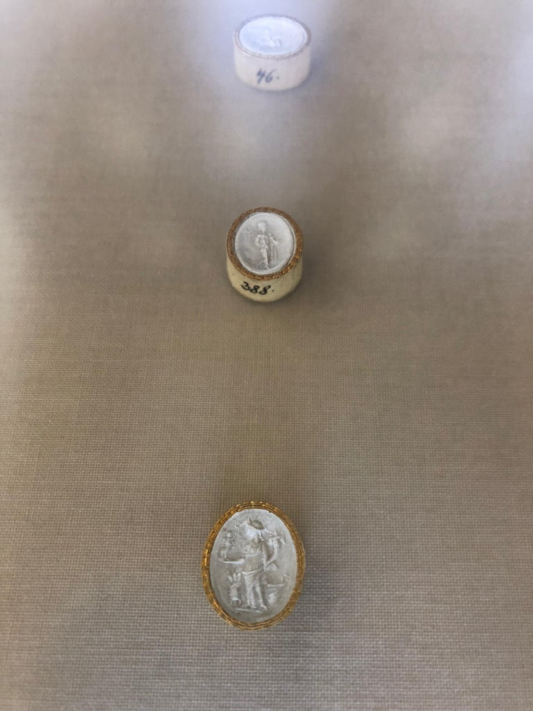 Pair of  Elegant Grand Tour Intaglios in Custom Frames For Sale 5