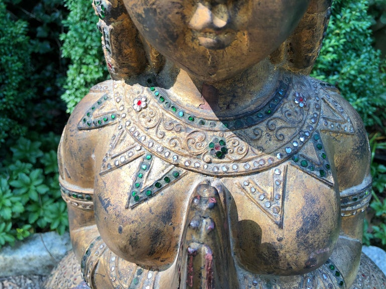 Exotic and Large Thai Deity Sculpture For Sale 4