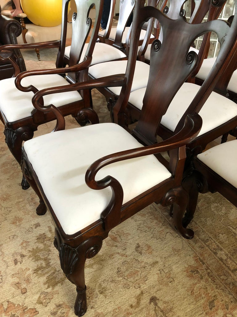 American Set of 12 Classic Ralph Lauren for Henredon Dining Chairs For Sale