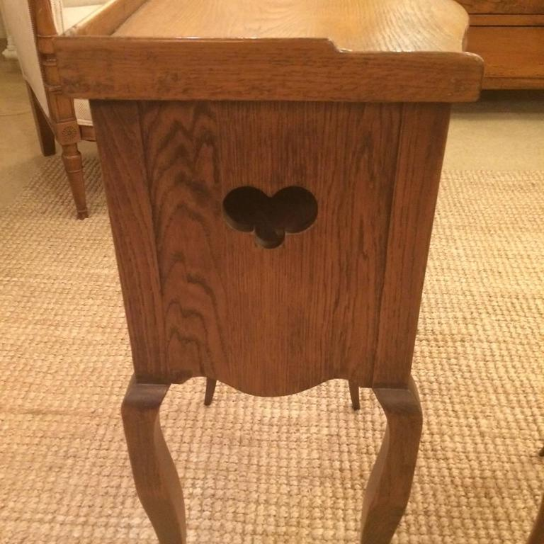 Pair of charming french oak night stands table de nuit for sale at 1stdibs - Table de nuit vintage ...
