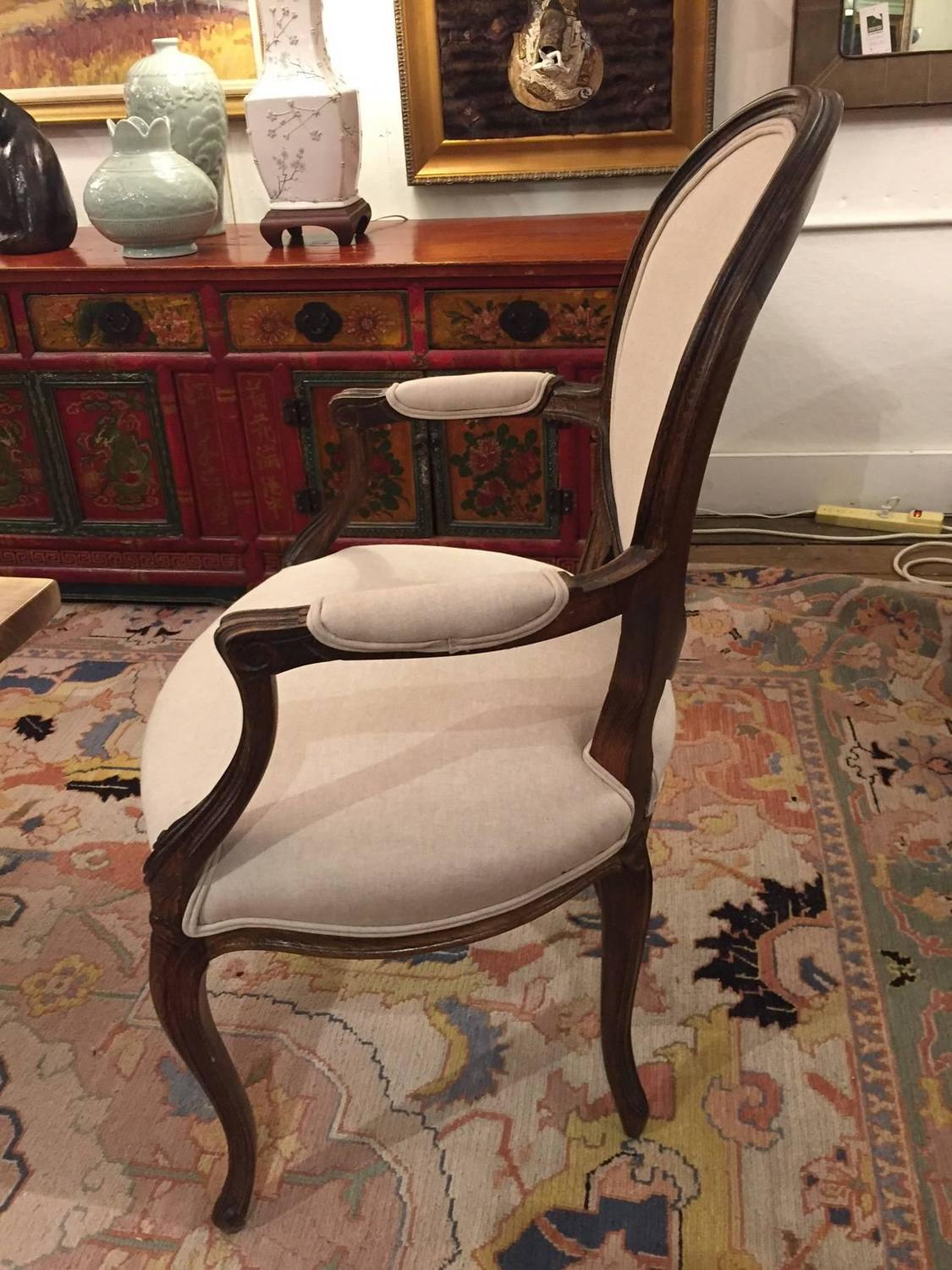 Pair Of French Carved Wood And Upholstered Arm Chairs At 1stdibs. Full resolution  img, nominally Width 1125 Height 1500 pixels, img with #A24D29.