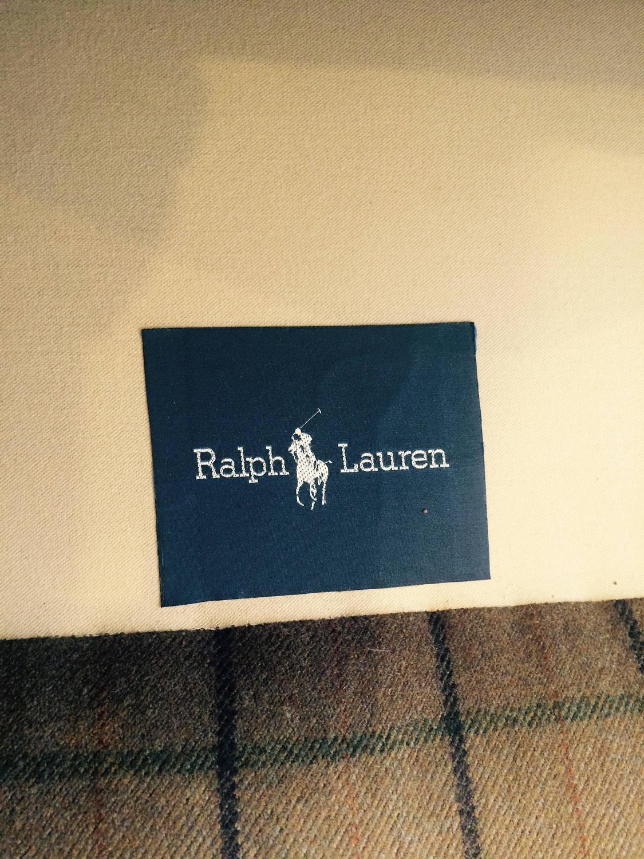 Traditional Camel Plaid Wool Ralph Lauren Sofa At 1stdibs