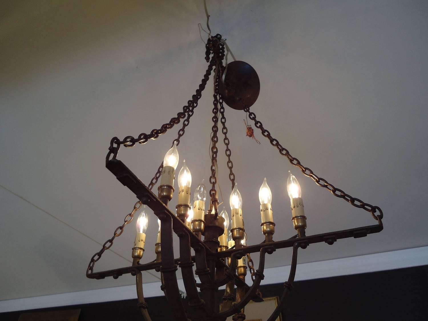 gothic style iron chandelier at 1stdibs