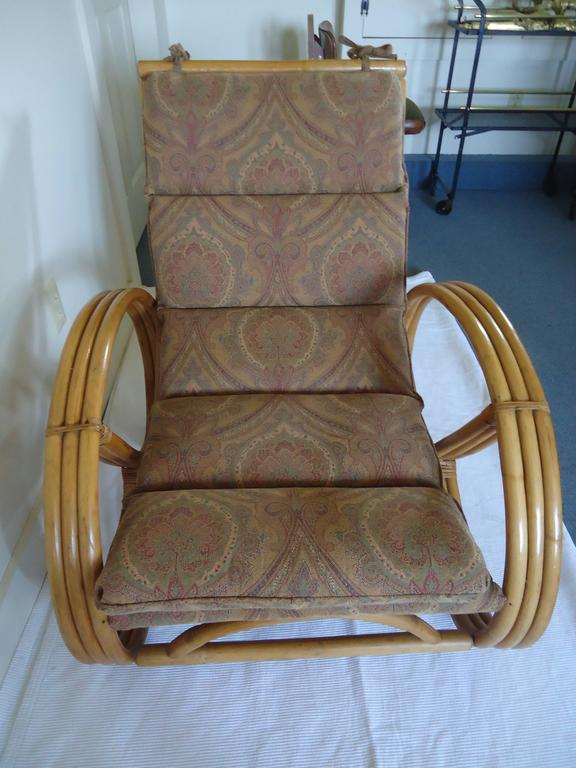Set Of Four Vintage Rattan Pretzel Chairs At 1stdibs