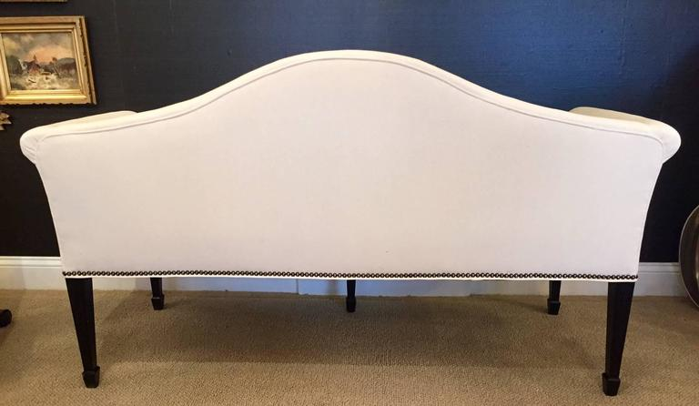 Sophisticated Mid-Century Tailored Settee Loveseat For Sale 2