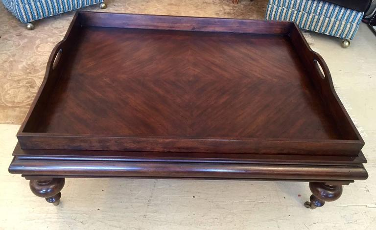 American Large Handsome Butler S Tray Coffee Table For