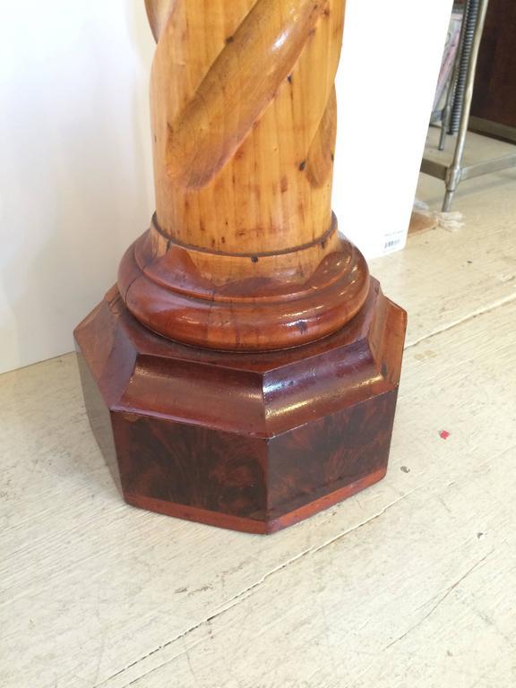 Twist Wood Columns : Pair of barley twist carved wood pedestals for sale at stdibs