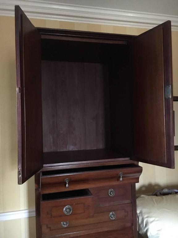Stately English Antique Linen Press Cabinet At 1stdibs