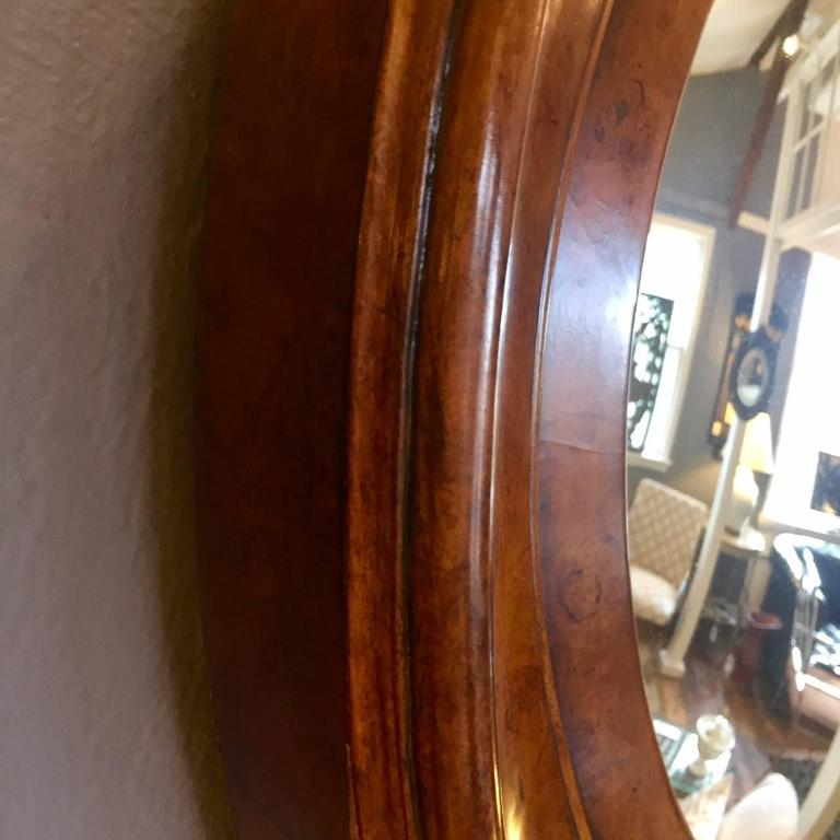 Stunning Burl Wood Frame With Convex Shaped Mirror