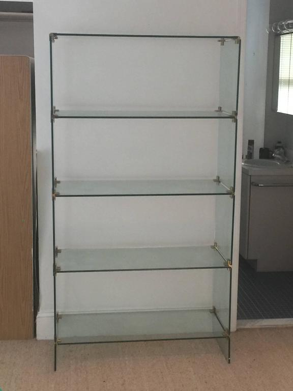 Mid century modern brass and glass display etagere in the - Etagere 6 cases ...