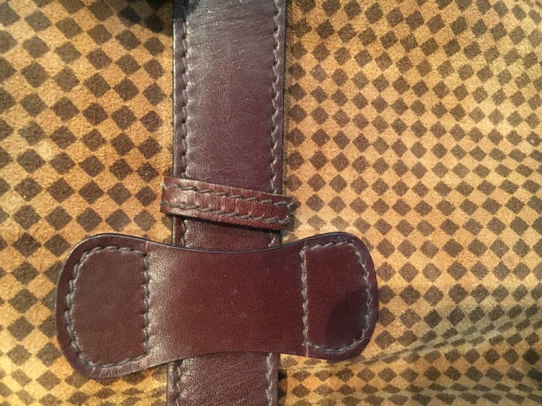 6b52e2f98e Late 20th Century Mint Condition Vintage Houndstooth and Leather Bottega  Veneta Weekend Bag For Sale