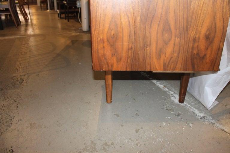 American Kipp Stewart Walnut Eight-Drawer Dresser For Sale