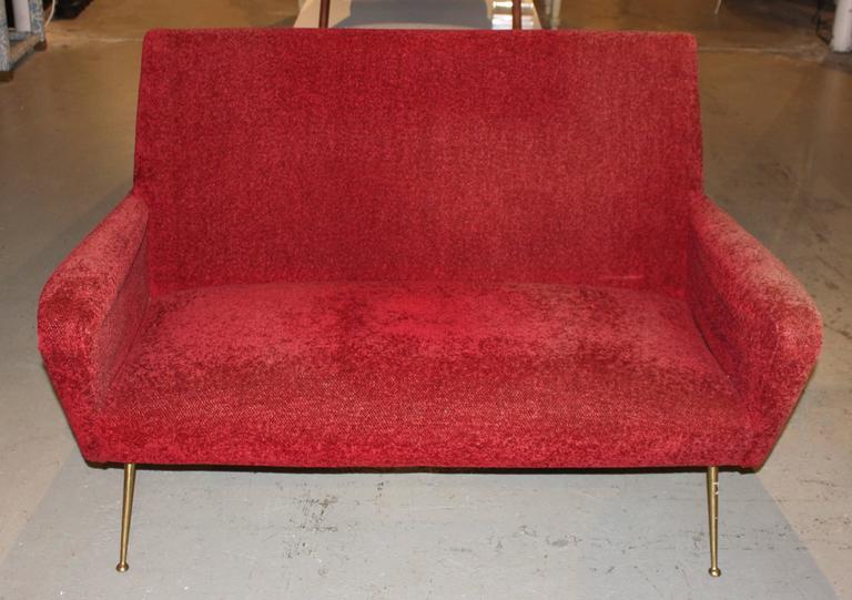 Italian Mid-Century Modern Settee Sofa 3