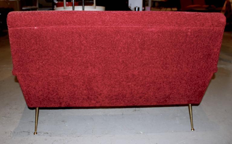 Italian Mid-Century Modern Settee Sofa 7