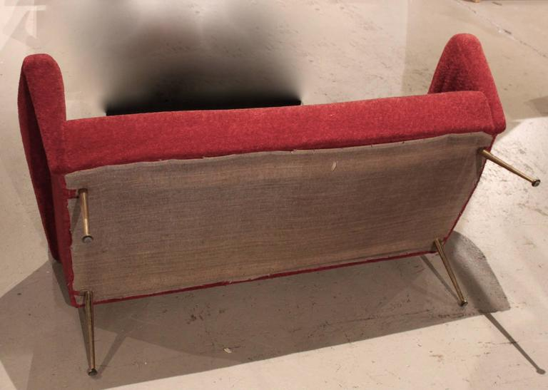 Italian Mid-Century Modern Settee Sofa 8