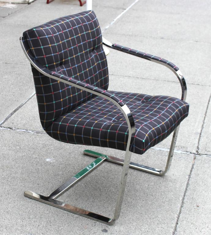 Polished Stainless Steel Brueton Chairs 4
