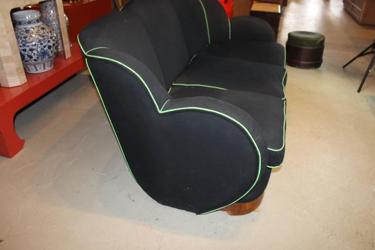 American Art Deco Upholstered Sofa For Sale