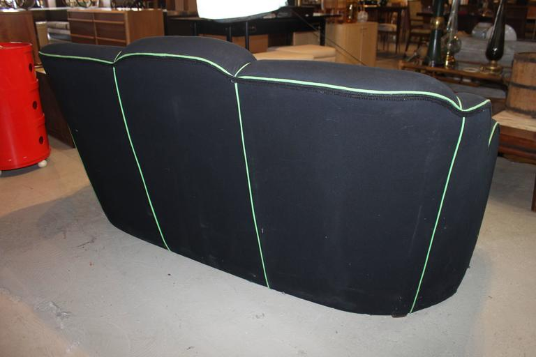 Art Deco Upholstered Sofa In Excellent Condition For Sale In Hudson, NY