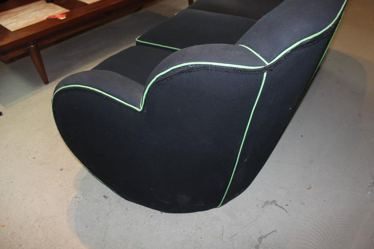 Mid-20th Century Art Deco Upholstered Sofa For Sale